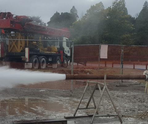 Rotorua Welldrilling letting off steam