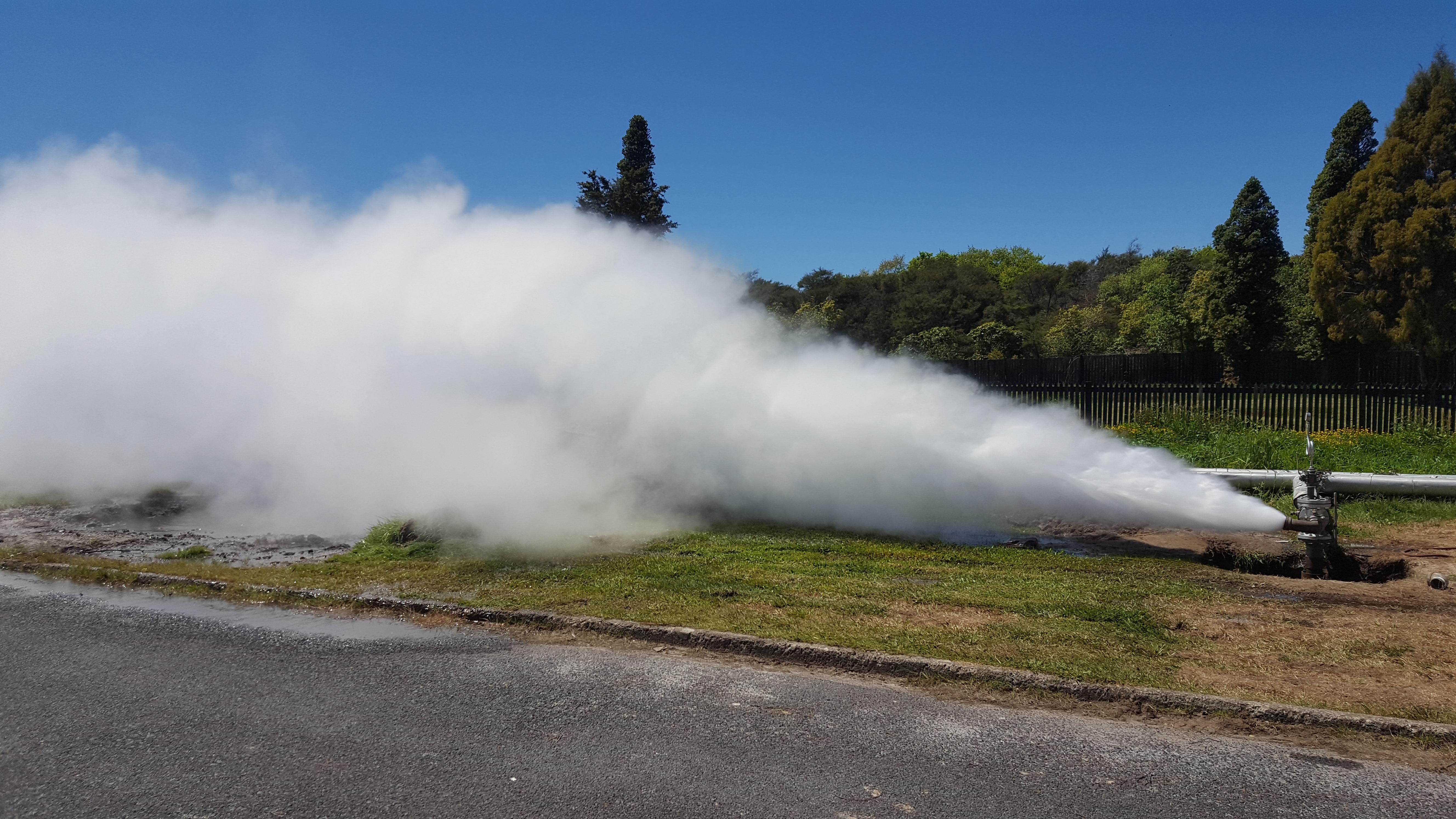 Rotorua Welldrilling action shot