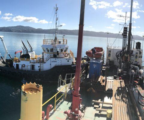 Wellington barge drilling
